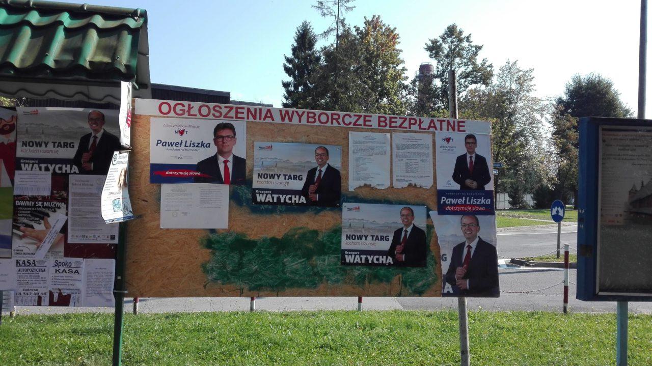 Za niszczenie wyborczego plakatu - mandat, grzywna lub areszt