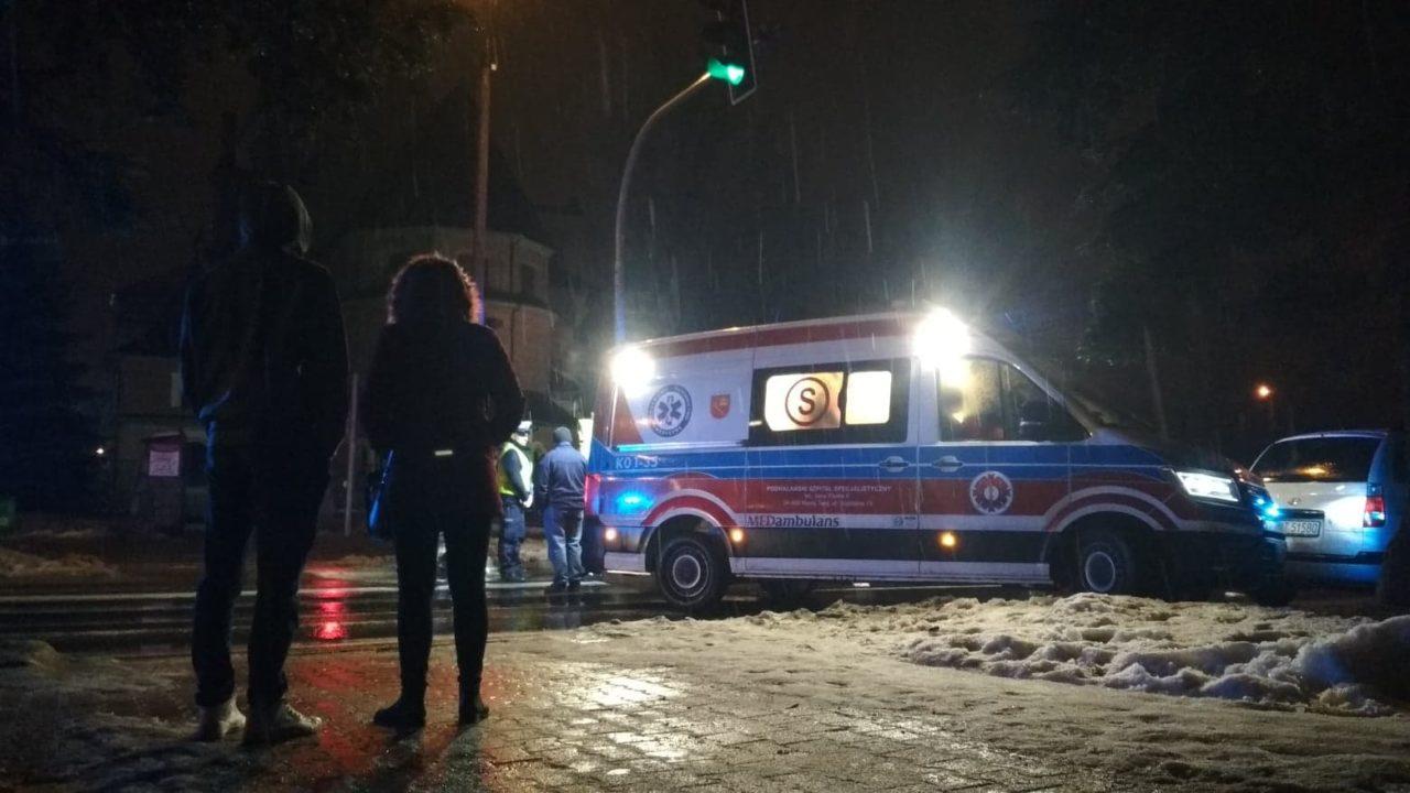 Wypadek na Alejach Tysiąclecia