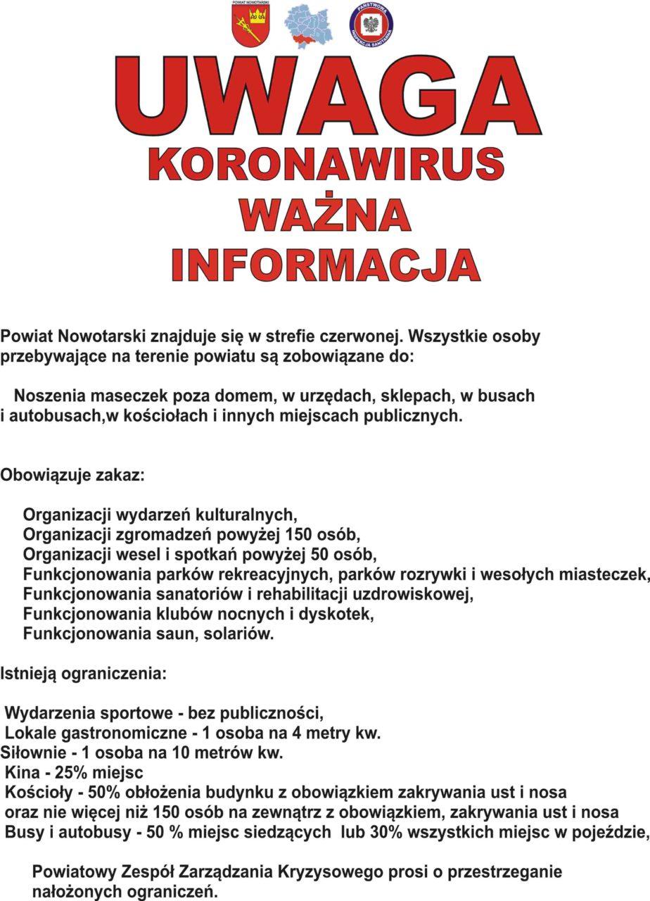 Koronawirus w Powiecie Nowotarskim - komunikat urzędowy