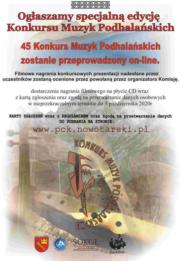 Rusza specjalna 45. edycja Konkursu Muzyk Podhalańskich - w wersji on-line