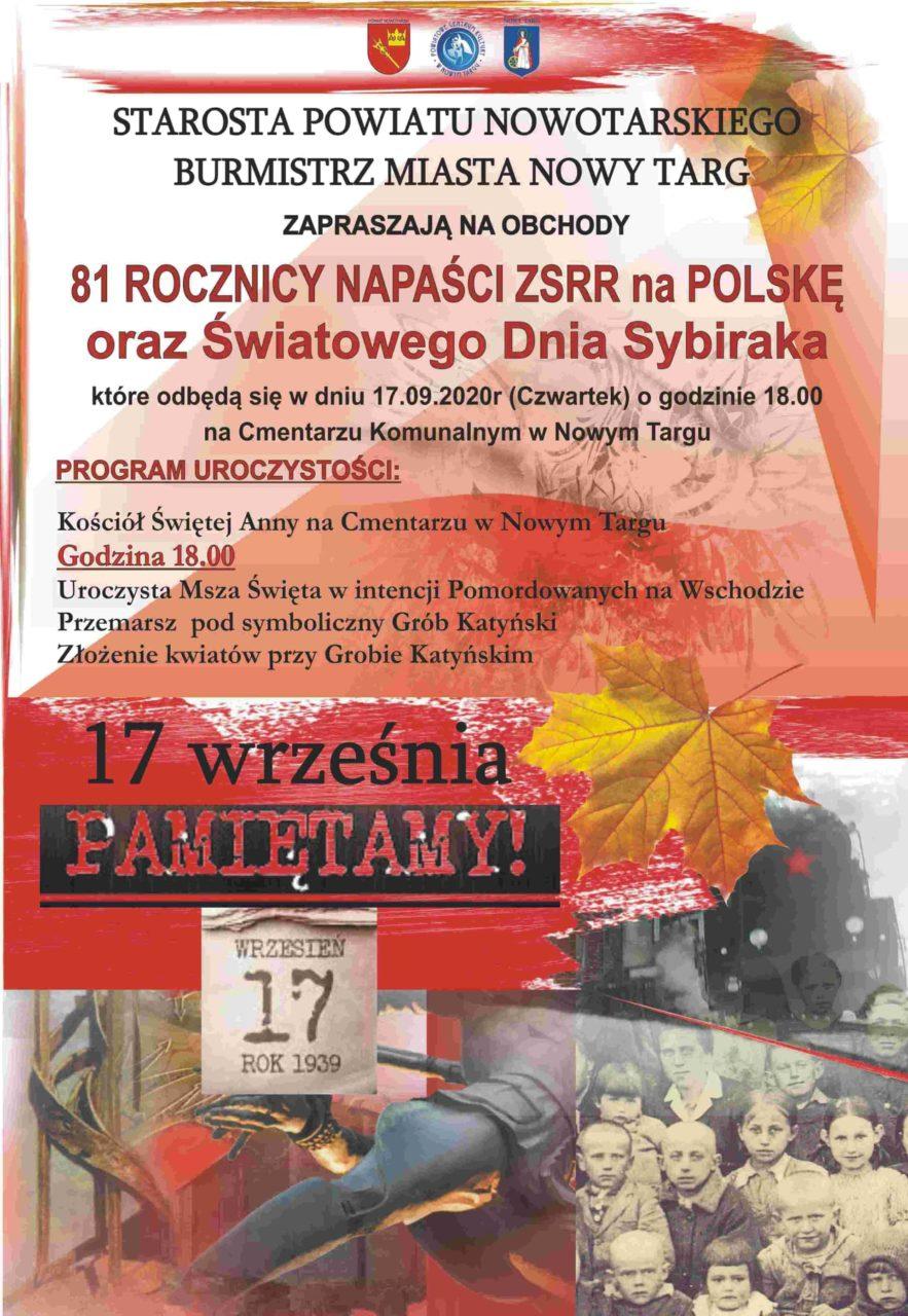 81. Rocznica Napaści ZSRR na Polskę oraz Światowy Dzień Sybiraka