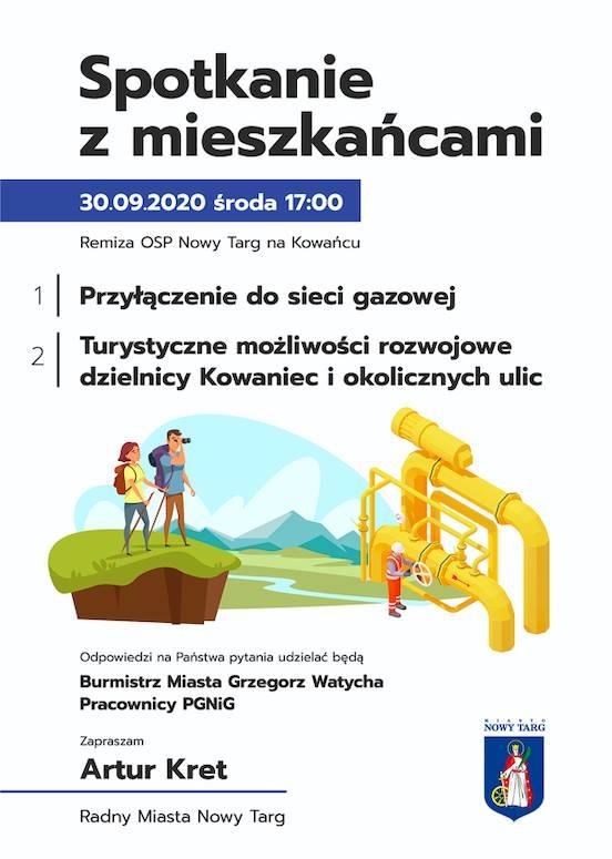 Spotkanie z mieszkańcami ul. Kowaniec i os. Szuflów w sprawie rozbudowy sieci gazowej
