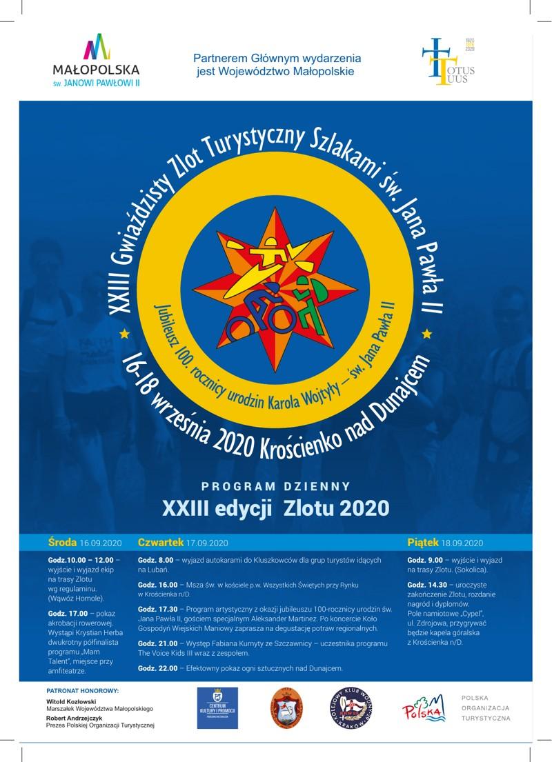 XXIII edycja Gwiaździstego Zlotu Turystycznego Szlakami Św. Jana Pawła II