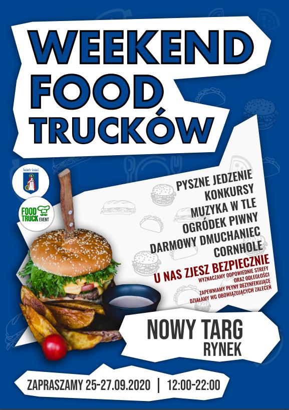 Weekend Food Trucków 25-27 września 2020 r. Rynek - Nowy Targ