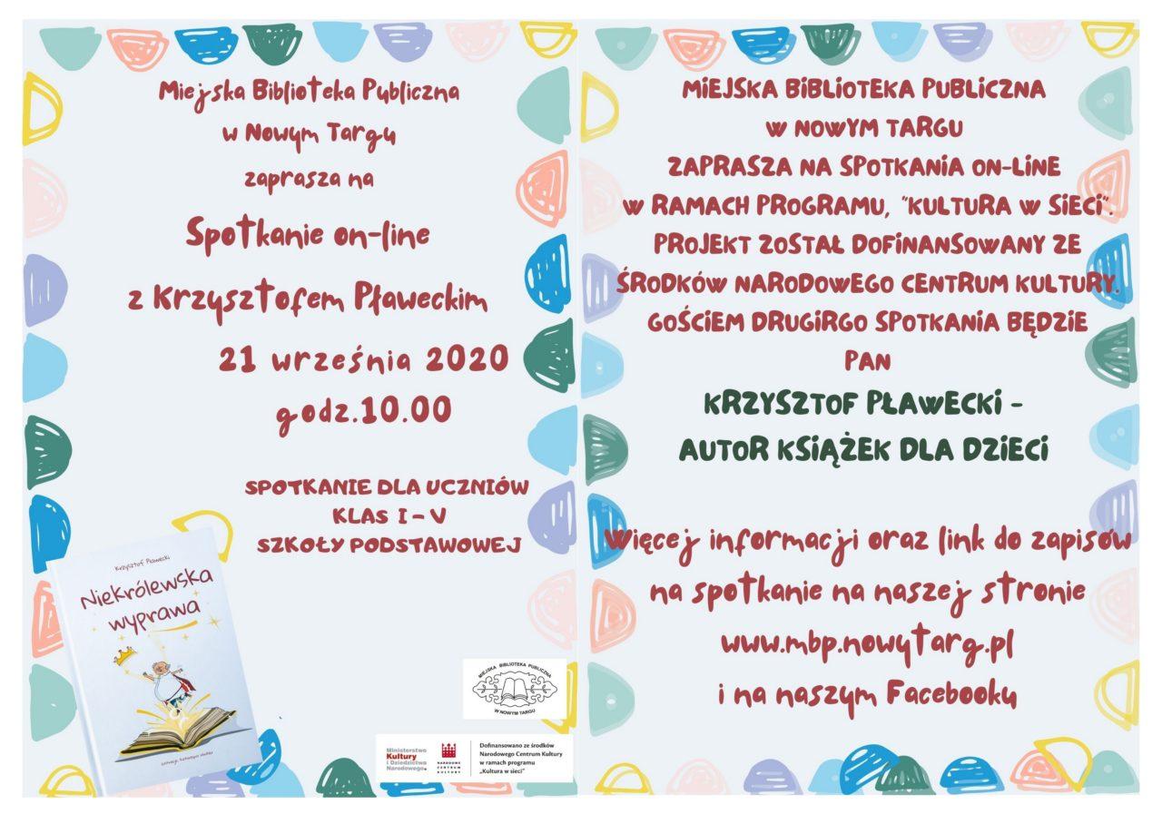 Spotkanie z Krzysztofem Pławeckim - autorem książek dla dzieci