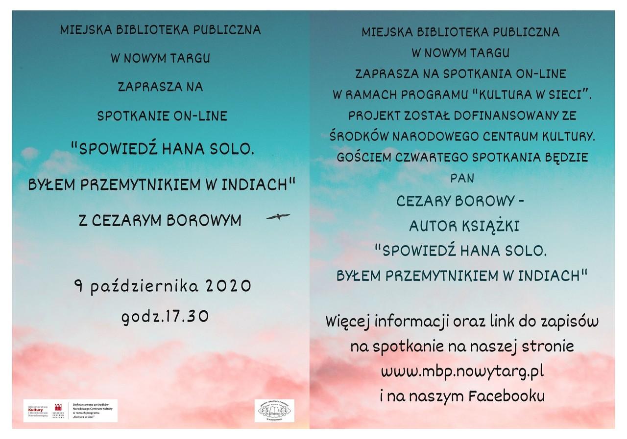 Spotkanie z Cezarym Borowym w ramach programu Kultura w sieci