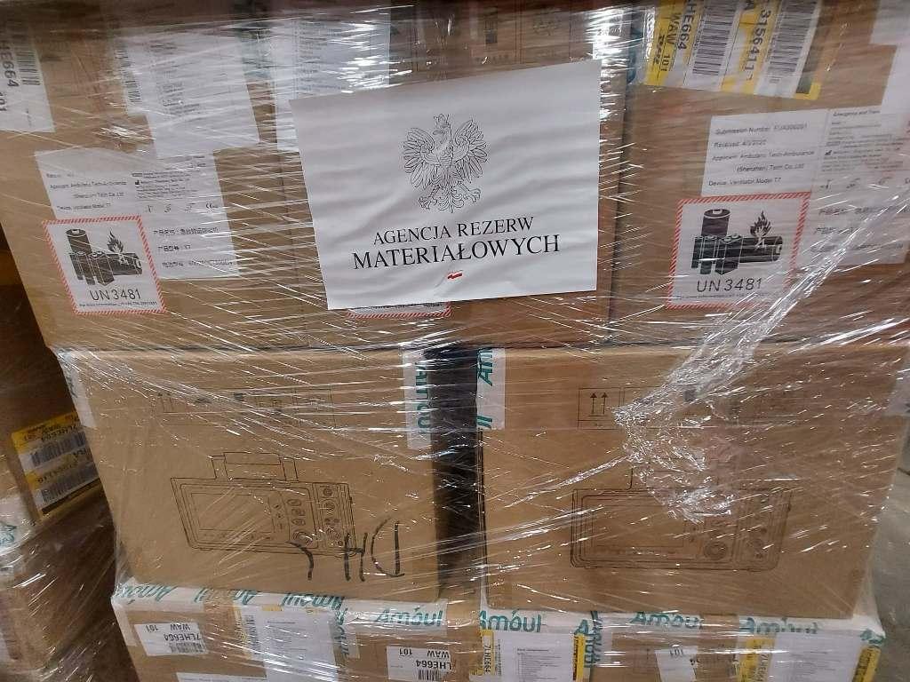 Trwają dostawy sprzętu z Agencji Rezerw Materiałowych