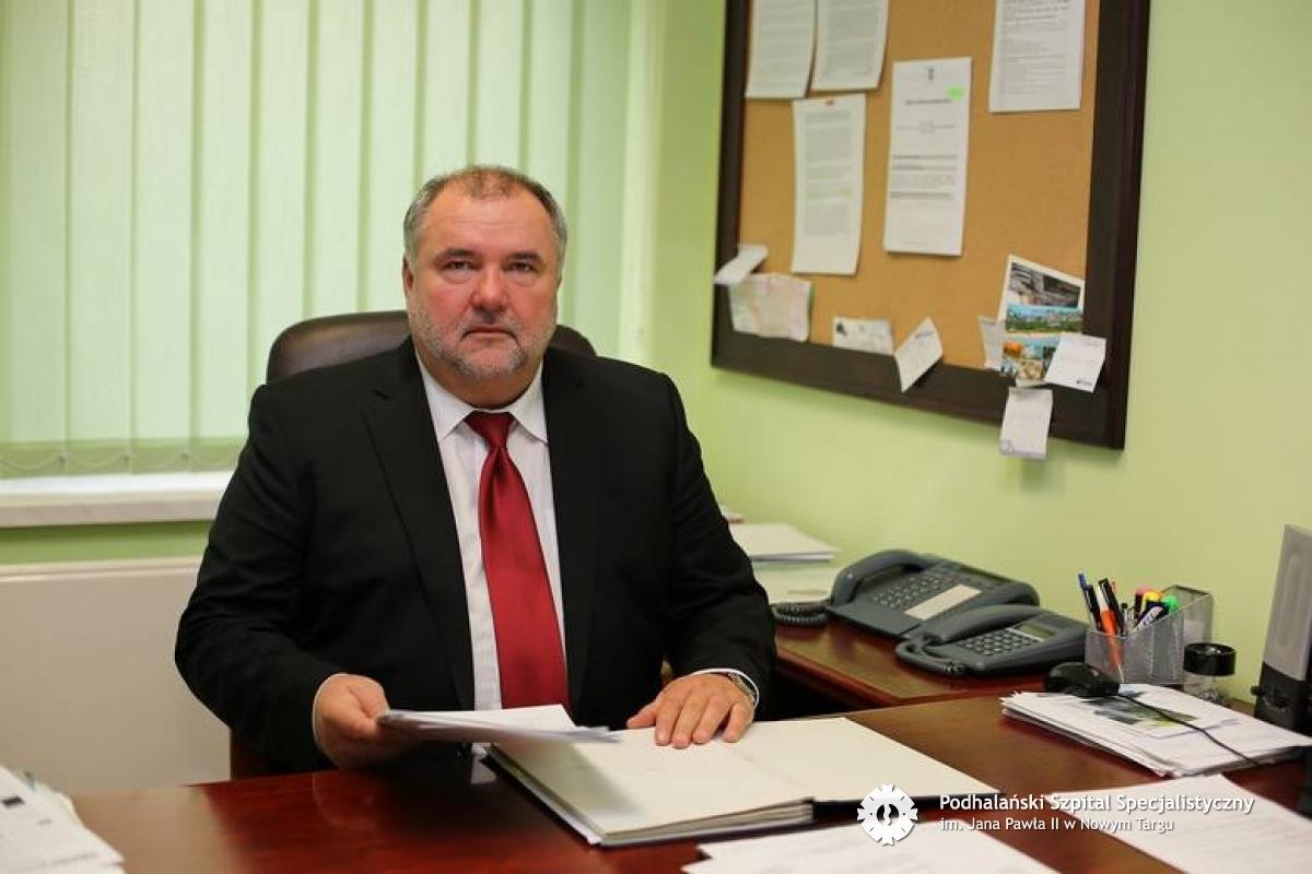 Dyrektor szpitala z koronawirusem