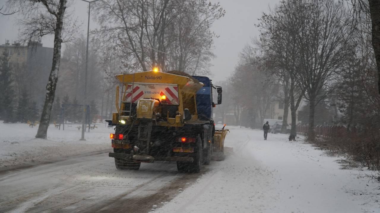 Zimowe utrzymanie dróg na terenie Nowego Targu w sezonie 2020/2021
