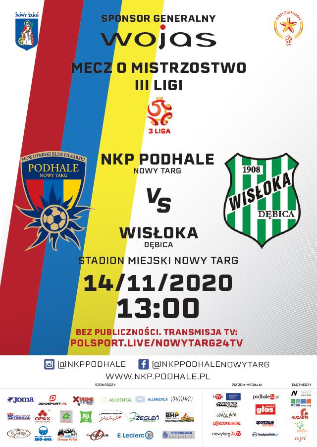 NKP Podhale Nowy Targ vs Wisłoka Dębica - mecz piłki nożnej