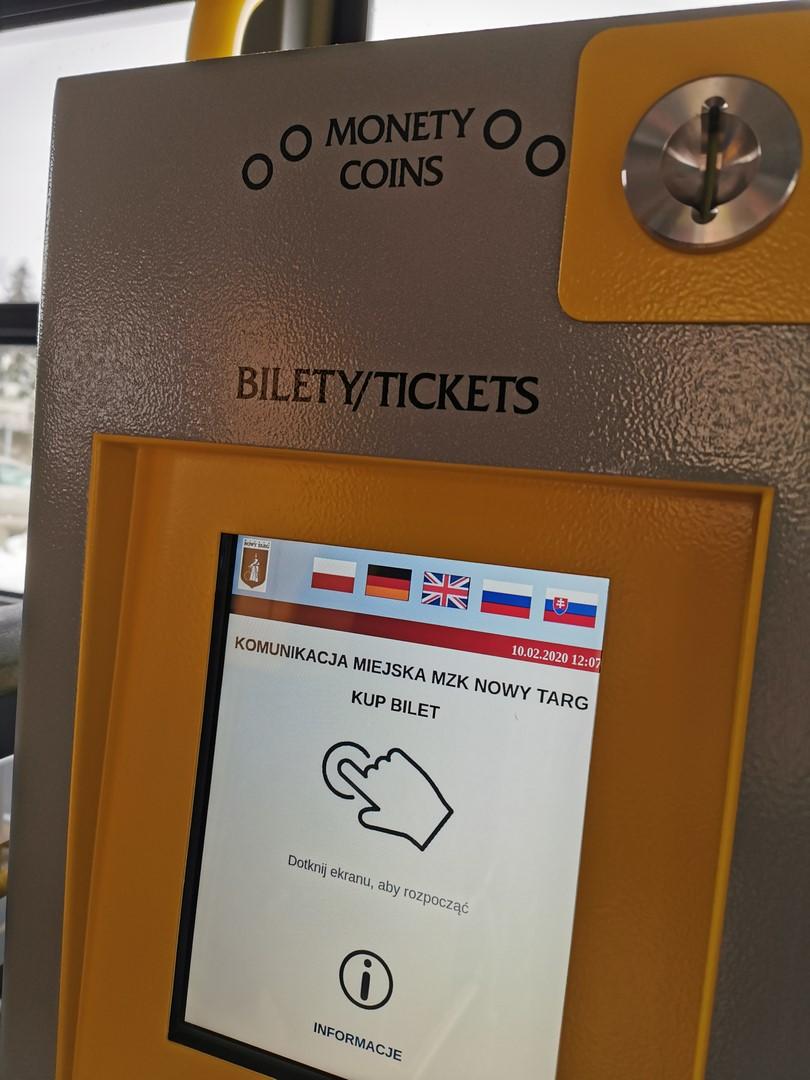 Uwaga! Biletomaty nieczynne (komunikat MZK)