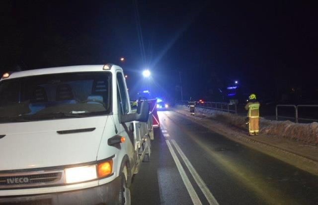 Śmiertelny wypadek w Szaflarach. 56-latek leżał na jezdni