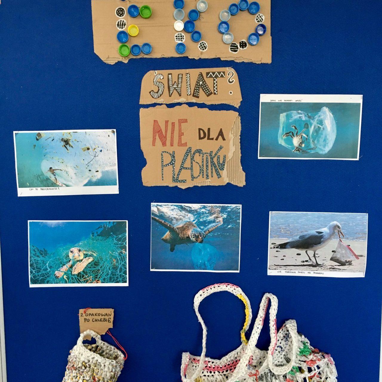 Nie dla plastiku - ekologiczna wystawa w Szkole Podstawowej nr 2