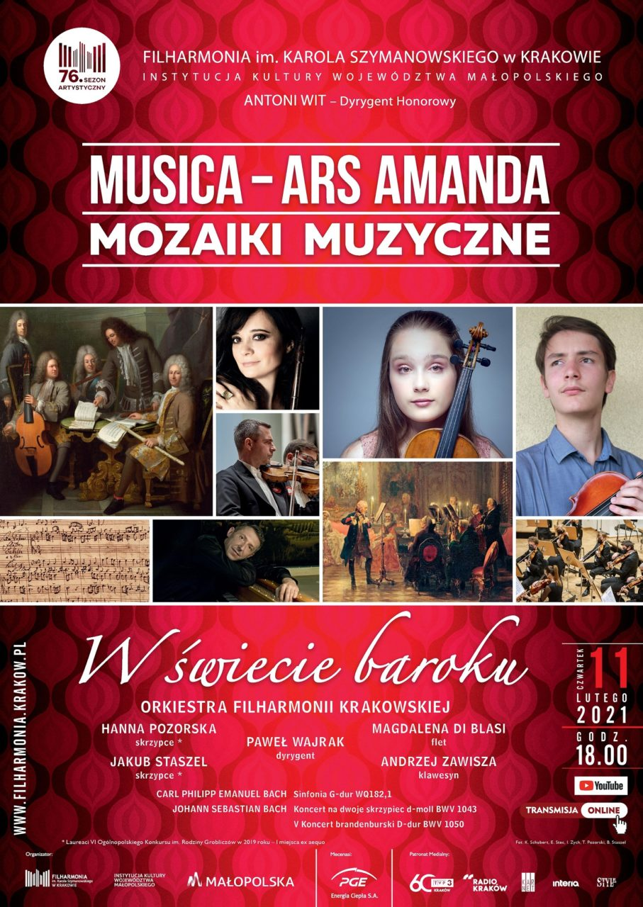 W Filharmonii Krakowskiej - koncert z udziałem Jakuba Staszla