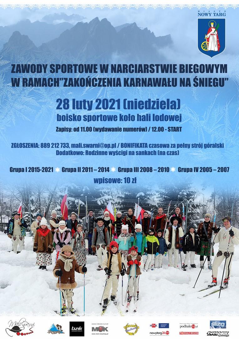 """Zawody sportowe w narciarstwie biegowym w ramach """"Zakończenia Karnawału na śniegu"""""""