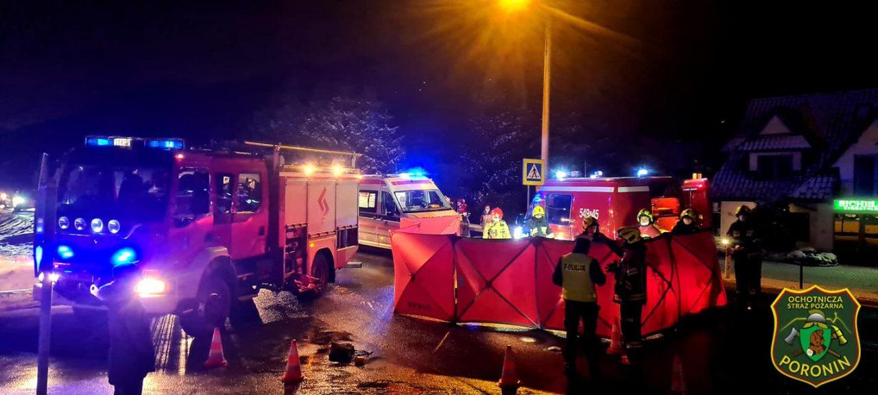 Zakopianka-Poronin: Tragiczny wypadek na przejściu dla pieszych