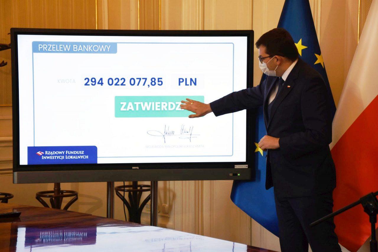 Pół miliarda za jednym kliknięciem trafiło do małopolskich gmin
