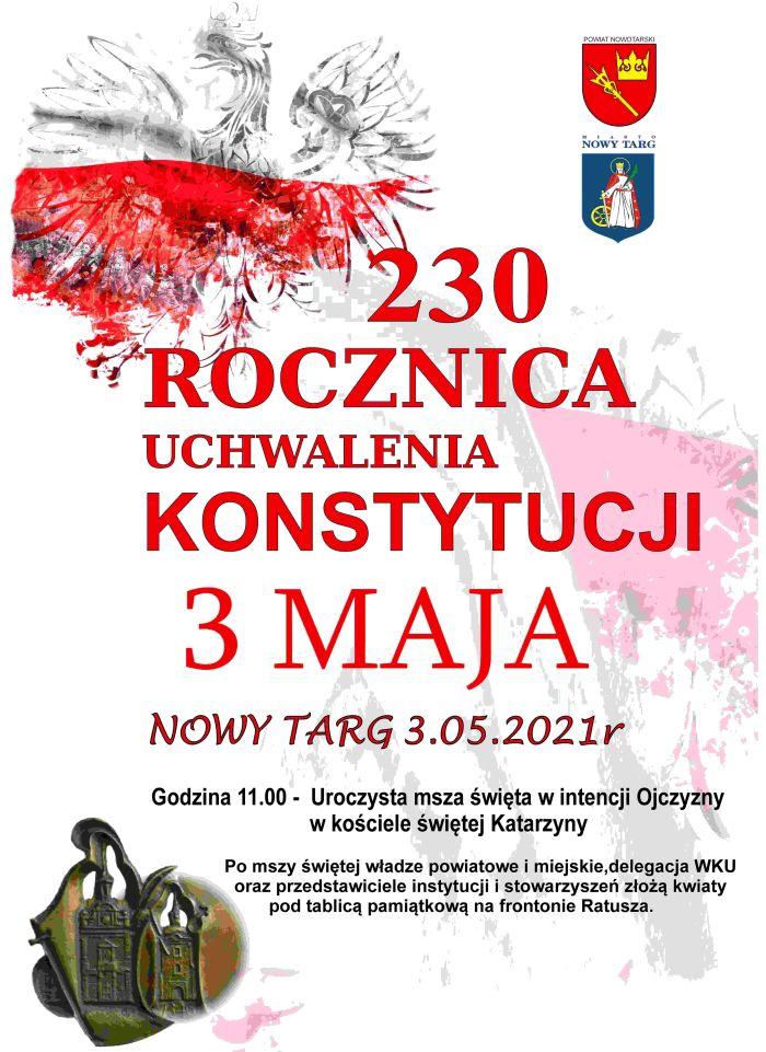 230. rocznica uchwalenia Konstytucji
