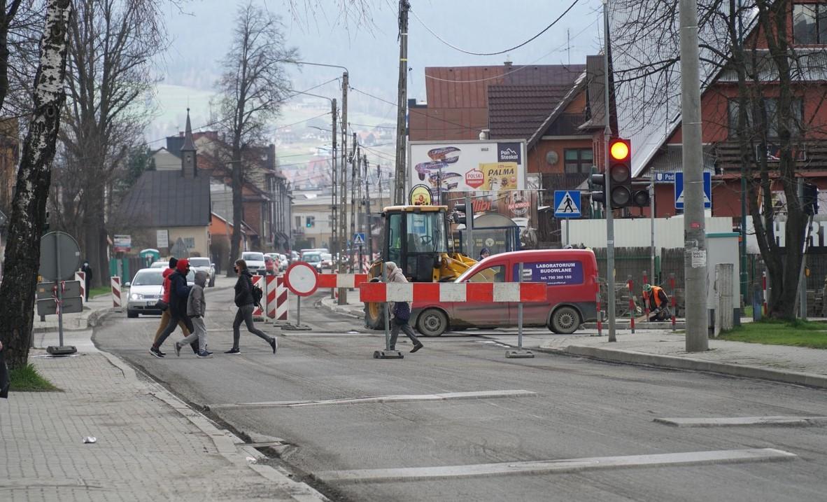 W dniach 10-11 maja zamknięcie ulicy Szaflarskiej w Nowym Targu