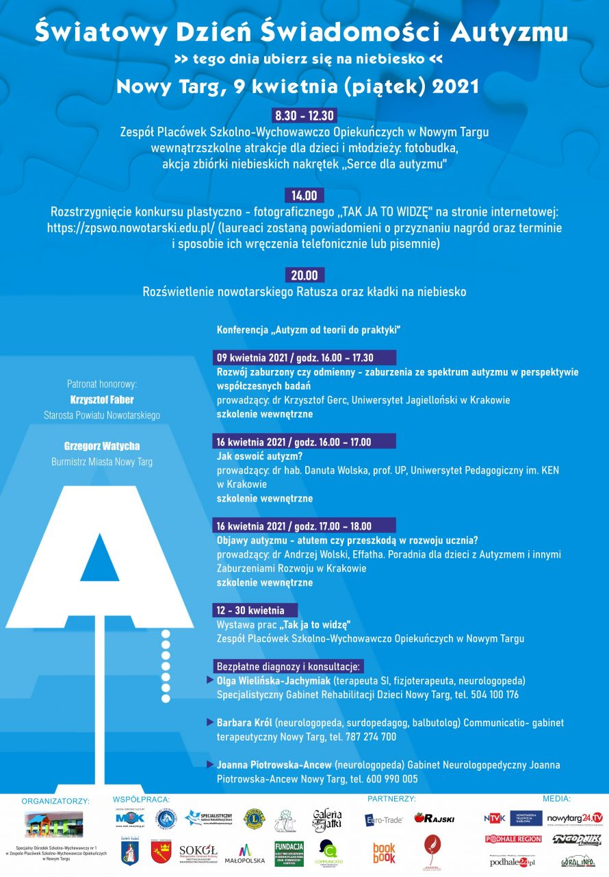 Światowy Dzień Świadomości Autyzmu – tego dnia ubierz się na niebiesko!