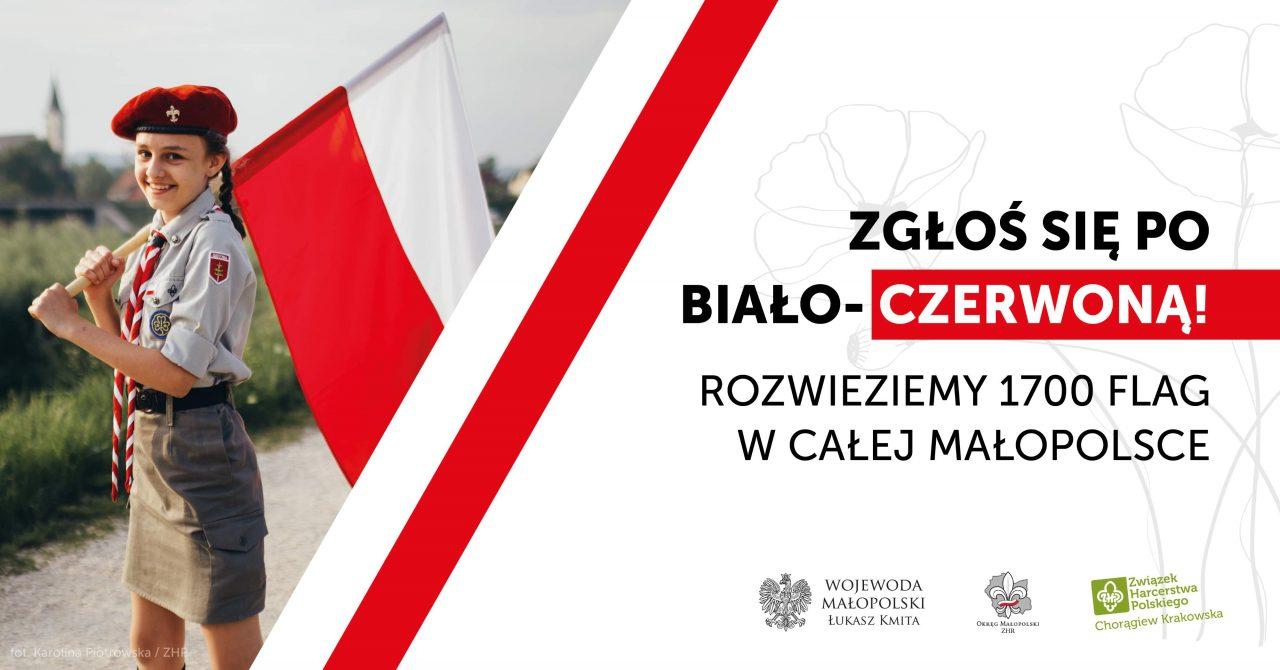 Zdobądź jedną z 1700 flag Polski na 17. Rocznicę Święta Flagi