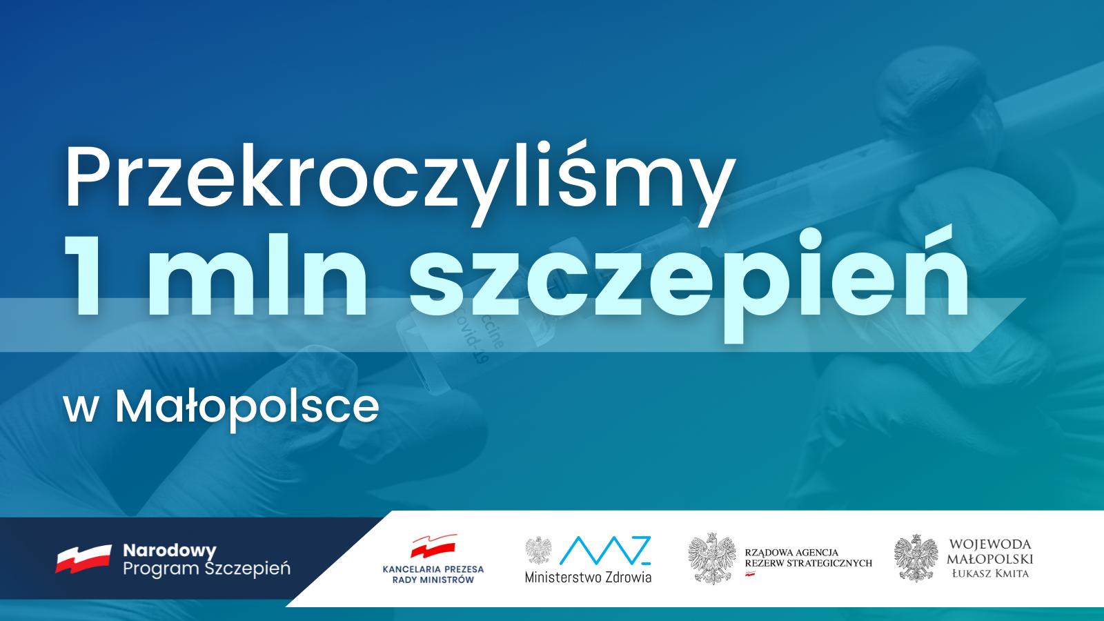 W Małopolsce - już ponad milion zaszczepionych