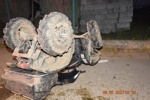 Groźny wypadek na quadzie w Kacwinie