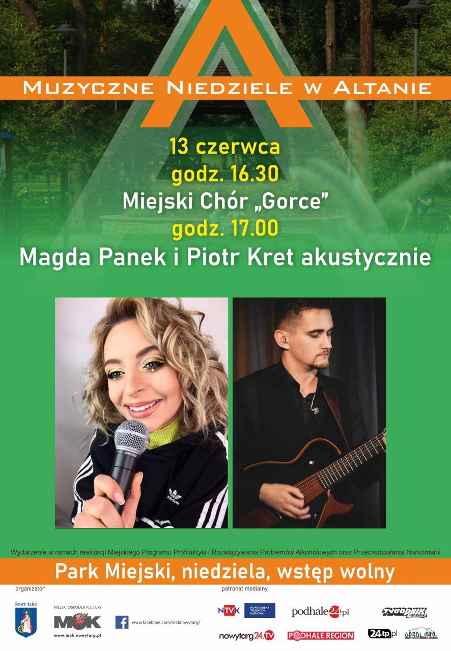 Magda Panek i Piotr Kret oraz Chór Gorce w Altanie
