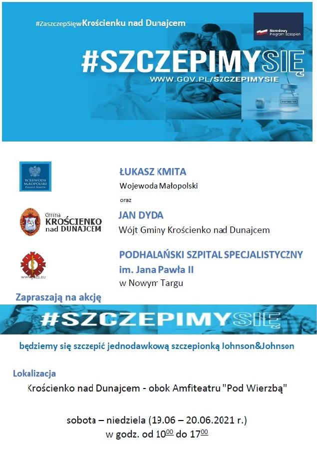Weekendowa akcja szczepień w Krościenku nad Dunajcem
