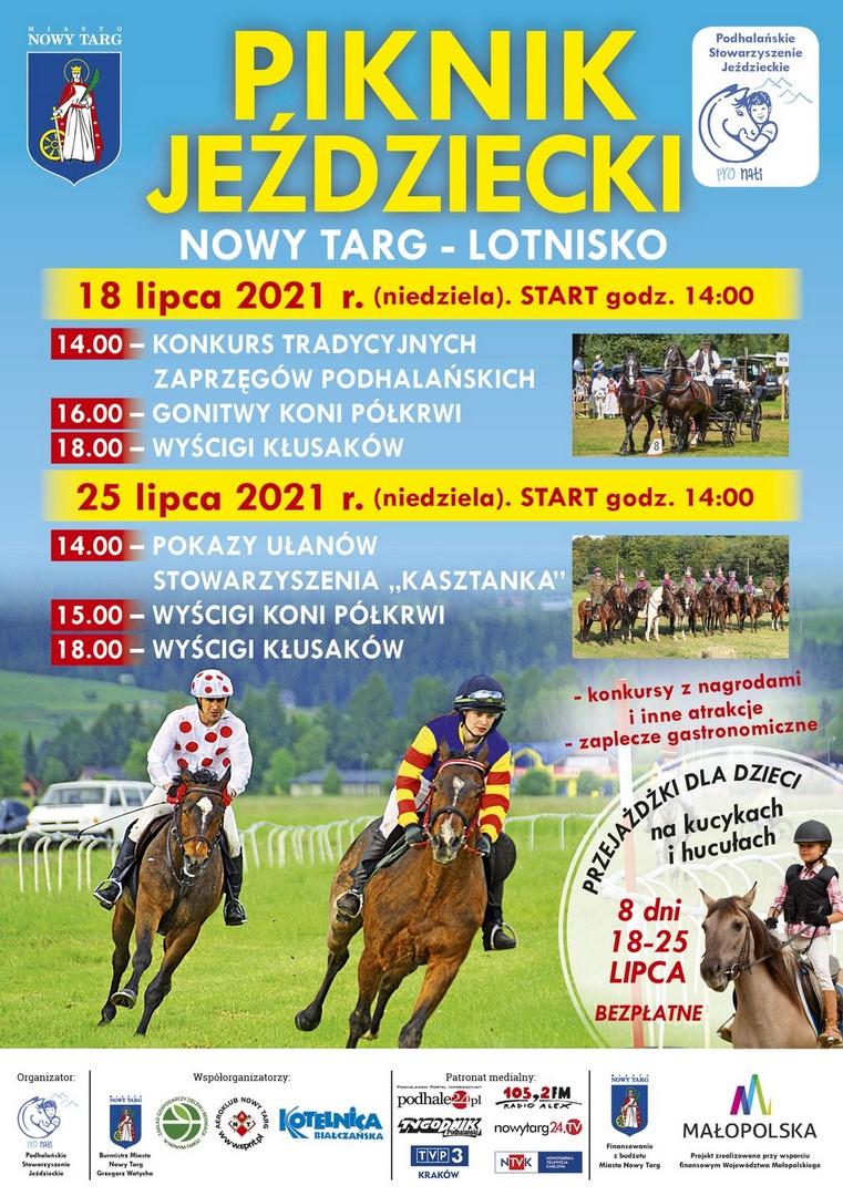 Piknik Jeździecki 18-25 lipca na lotnisku w Nowym Targu