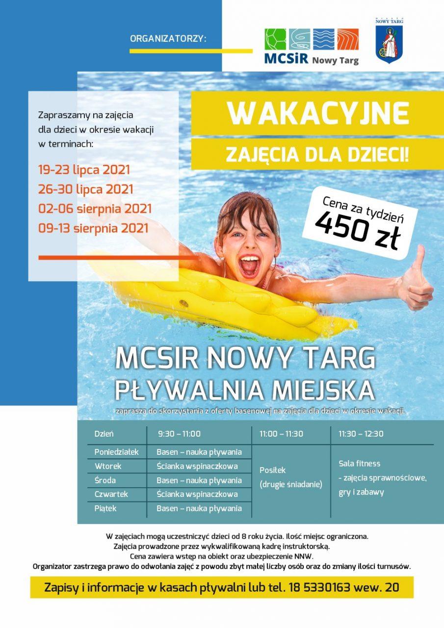 Wakacyjne zajęcia dla dzieci na nowotarskiej pływalni. Nie tylko z pływania!