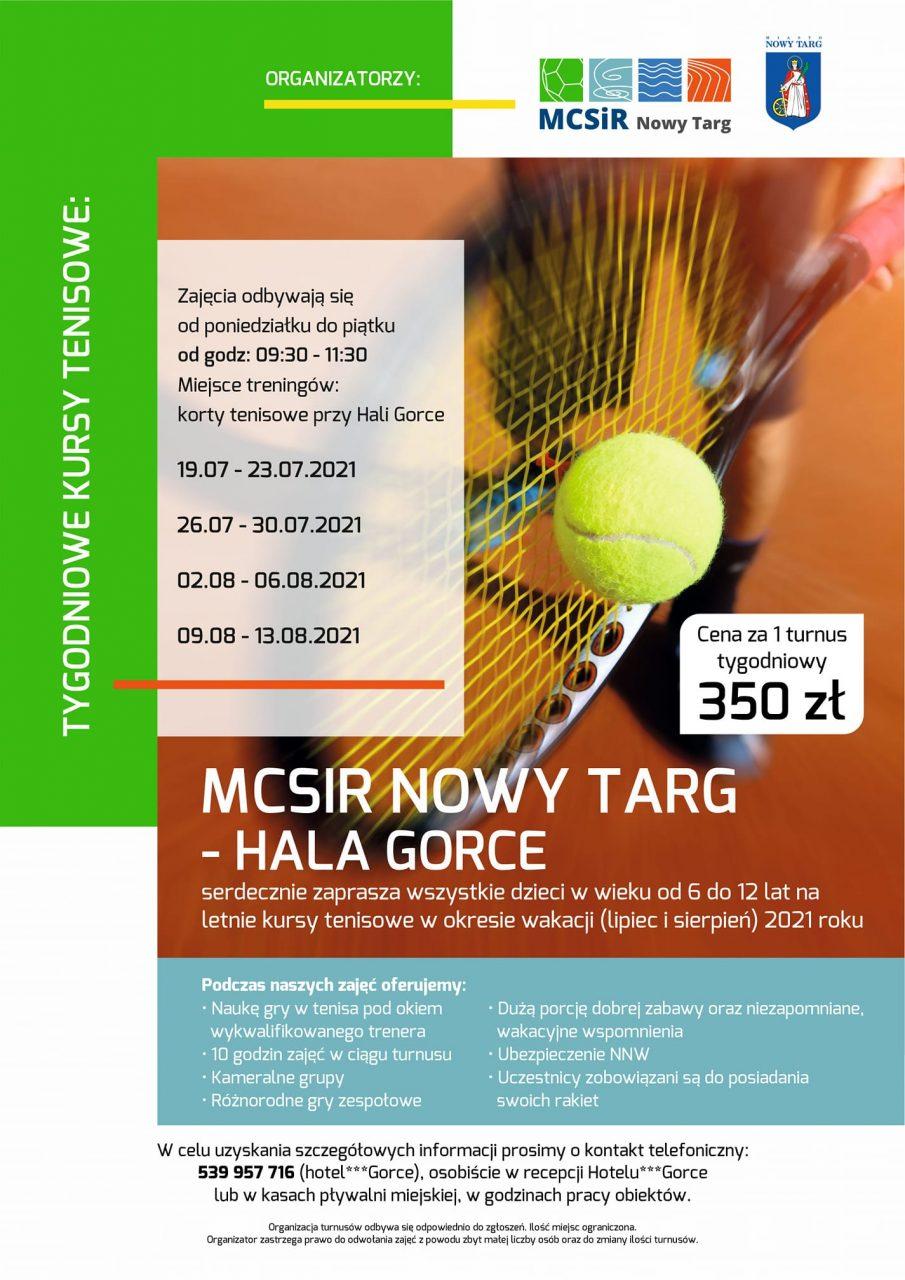 Letnie kursy tenisowe dla dzieci