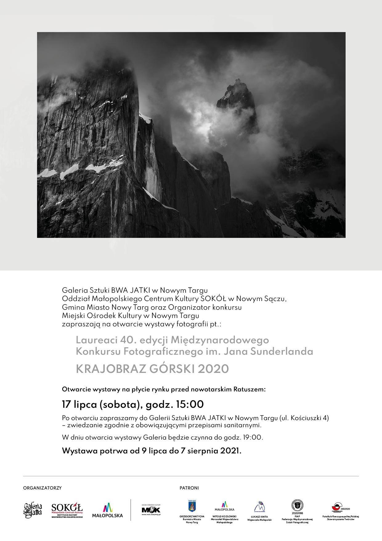 Laureaci 40. edycji Międzynarodowego Konkursu Fotograficznego im. Jana Sunderlanda KRAJOBRAZ GÓRSKI 2020