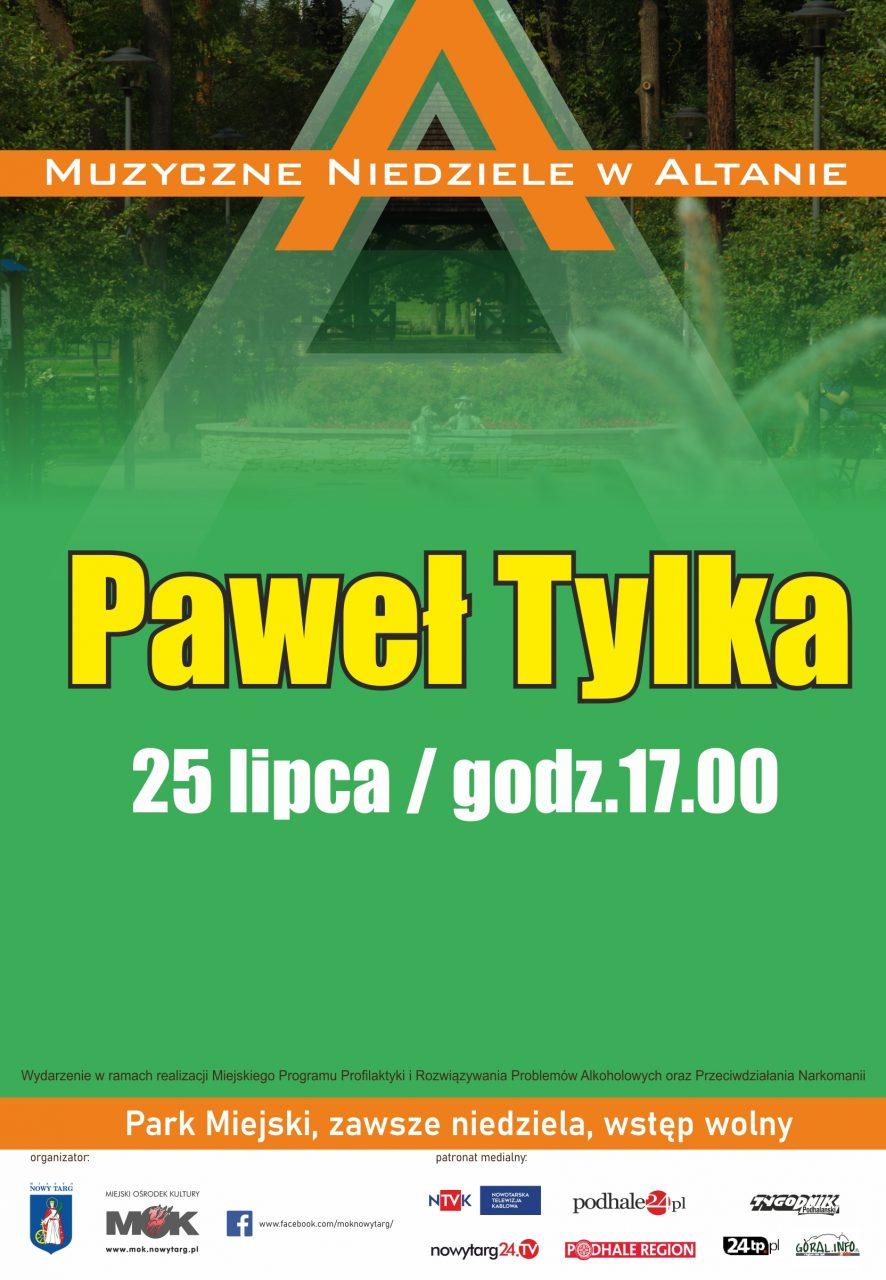 Paweł Tylka w altanie