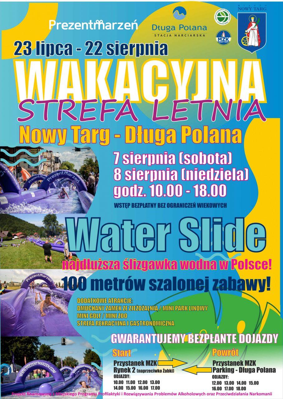 Wakacyjna Strefa Letnia: 7 i 8 sierpnia na Długiej Polanie stanie najdłuższa ślizgawka wodna w Polsce