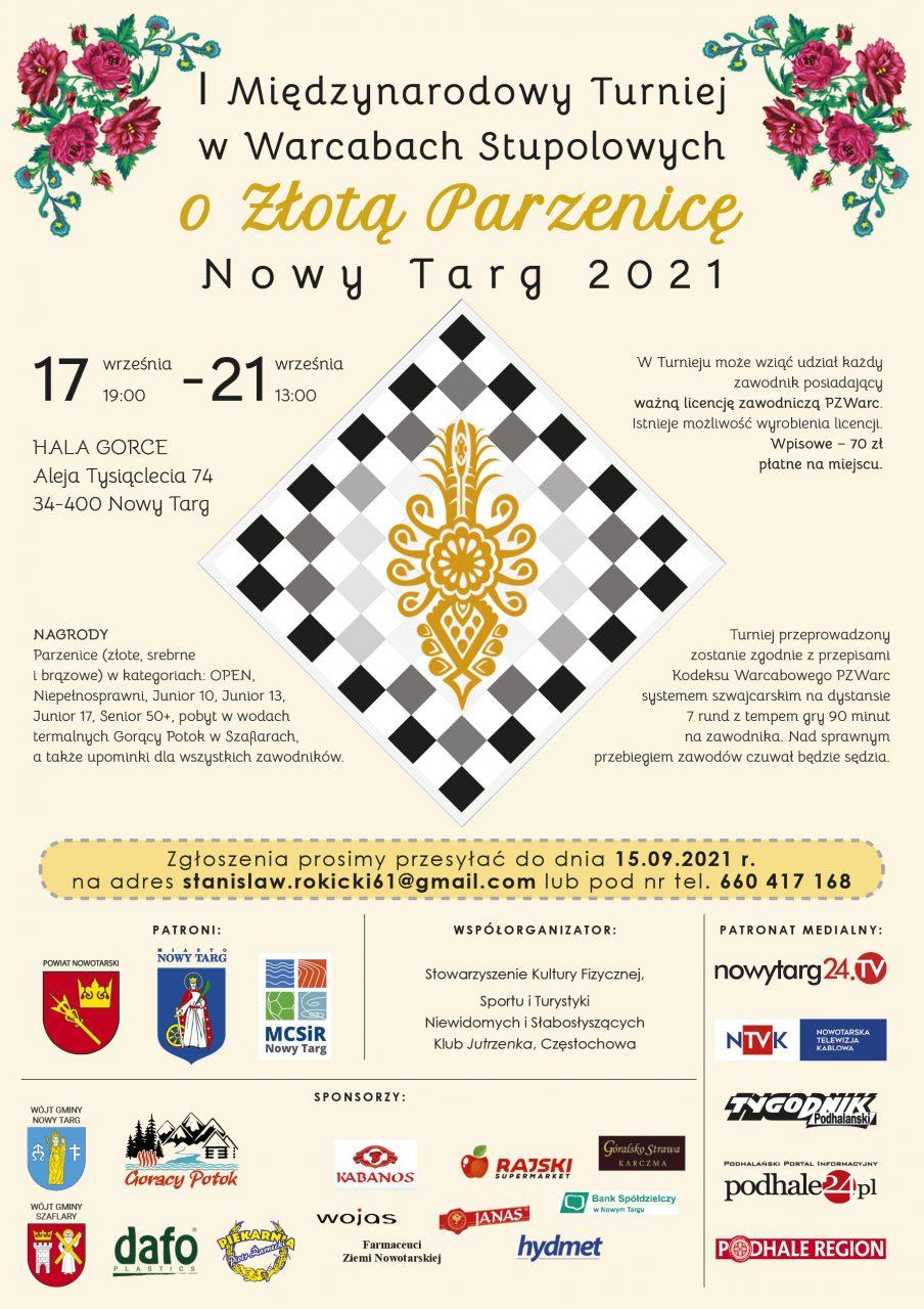 I Międzynarodowy Turniej w Warcabach Stupolowych o Złotą Parzenicę