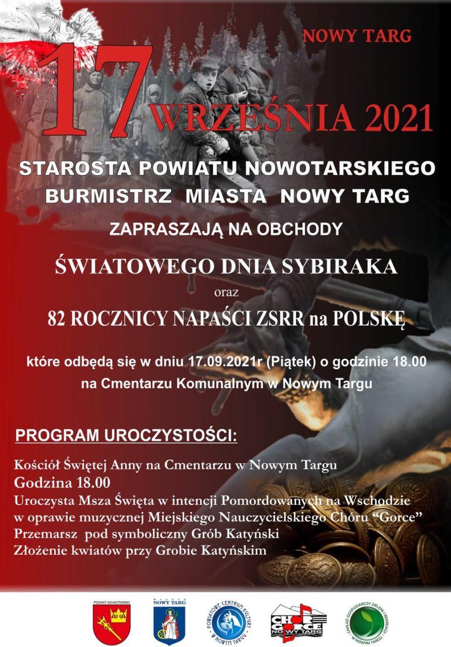 Nowotarskie obchody Światowego Dnia Sybiraka i 82. rocznicy napaści ZSRR na Polskę