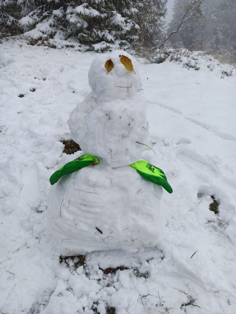 W Gorcach spadł pierwszy śnieg